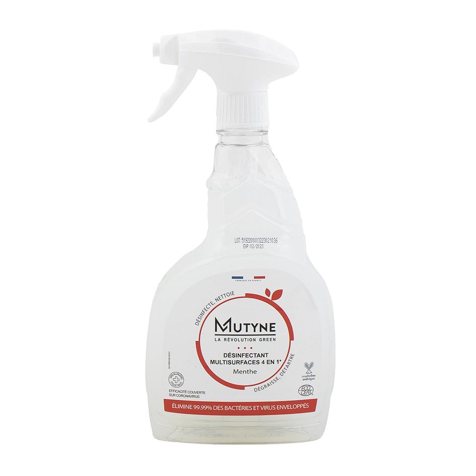 Spray désinfectant 4-en-1, élimine 99,99 % des bactéries et virus enveloppés avec une action virucide, bactéricide, levuricide, fongicide, par Mutyne