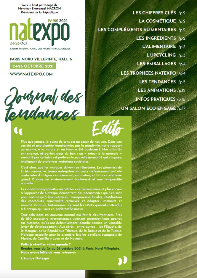Journal des Tendances Natexpo 2021